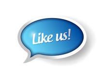 Als ons bericht communicatie bellenillustratie Stock Foto