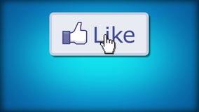 Als ons op Facebook stock illustratie