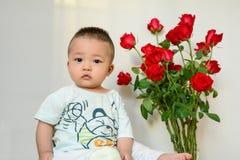 Als roze weinig baby royalty-vrije stock afbeelding