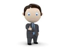 Als! Sociale 3D karakters Stock Foto's