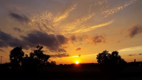 Als Sunsets Royalty-vrije Stock Afbeeldingen