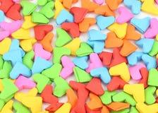 Als thema gehade de vormvalentijnskaart van het origamihart Royalty-vrije Stock Foto