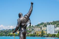 Als u vrede van ziel wilt kom aan Montreux stock foto's
