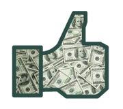 Als van geld Stock Afbeelding