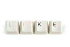 Als van verspreide toetsenbordsleutels op wit Royalty-vrije Stock Afbeelding