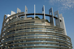 Alsace, the European Parliament of Strasbourg Stock Image