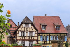 Alsace. Facades of half-timbered houses Stock Image