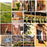 Alsace, France collage Stock Photo