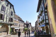 alsace France francuski wioski Zdjęcia Stock