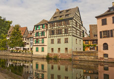 Alsace half-timbered houses Stock Photos