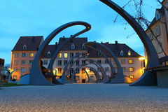 Alsace,night scene Stock Photos