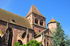 Alsace, the picturesque village of Marmoutier Stock Image