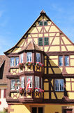 Alsace, the picturesque village of Marmoutier Royalty Free Stock Image
