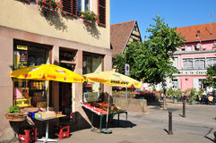 Alsace, the picturesque village of Marmoutier Stock Photo