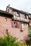 Old streets in Riquewihr town Royalty Free Stock Photo