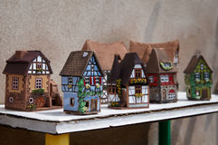 Alsace's houses Stock Photos