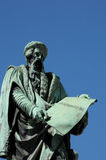 Alsace statyn av Gutenberg i Strasbourg Royaltyfri Bild