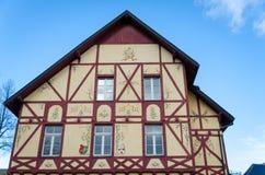 Alsace stilhus Arkivbilder