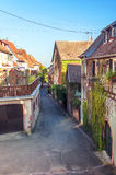 Alsace street with flowers Royalty Free Stock Photo