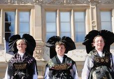 Alsace tradycyjne suknie Zdjęcie Royalty Free