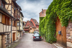 Alsace village Eguisheim Royalty Free Stock Photography