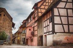 Alsace village Eguisheim Stock Image