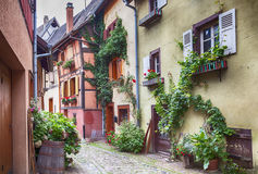 Alsace village Eguisheim Stock Photo