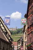 Alsace village. France. Stock Photos