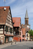 Alsace, the village of Kintzheim in Bas Rhin Royalty Free Stock Images