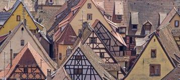 Alsace village, Riquewhir town. France Stock Images