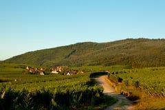 Alsace village Riquewir Stock Images