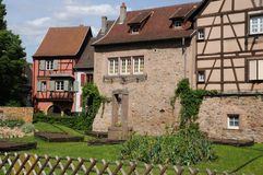 Alsace, the village of  Turckheim in Haut Rhin Royalty Free Stock Photo