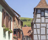 Alsace village, typical town. France. Stock Image