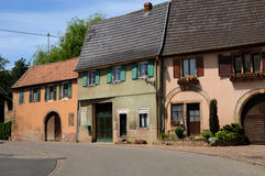 Alsace, the village of  Westhalten in Haut Rhin Stock Photography