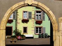 Alsacian Dorf Lizenzfreies Stockbild