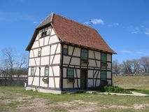 Alsacian House in Texas. A 17th century house that was recently moved from Alsace, France to Castroville, Texas (known as Little Alsace Stock Images