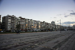 Alsancak at dusk time. Stock Photos