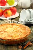 Alsatian apple pie. Royalty Free Stock Photos