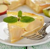 Alsatian apple pie Stock Images
