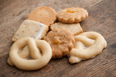 Alsatian cookies  on wooden background Royalty Free Stock Photos