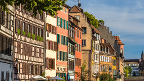 Alsatian half-timbered houses in Strasbourg Stock Images