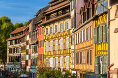 Alsatian half-timbered houses in Strasbourg Royalty Free Stock Photos