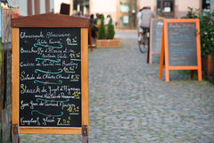 Alsatian menu Stock Images