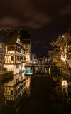 Alsatian style houses in Petite France area of Strasbourg. France Royalty Free Stock Images