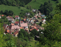 Alsatian village royalty free stock photo