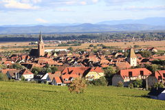 Alsatian village of Bergheim Royalty Free Stock Photography