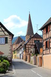 Alsatian village in the vineyard Stock Photo