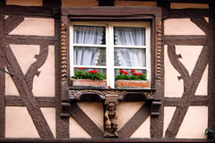 Alsatian window Royalty Free Stock Images