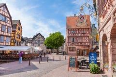 Alsaziano pittoresco del villaggio di Colmar, Francia Fotografia Stock