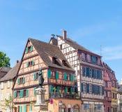 Alsaziano pittoresco del villaggio di Colmar, Francia Fotografia Stock Libera da Diritti